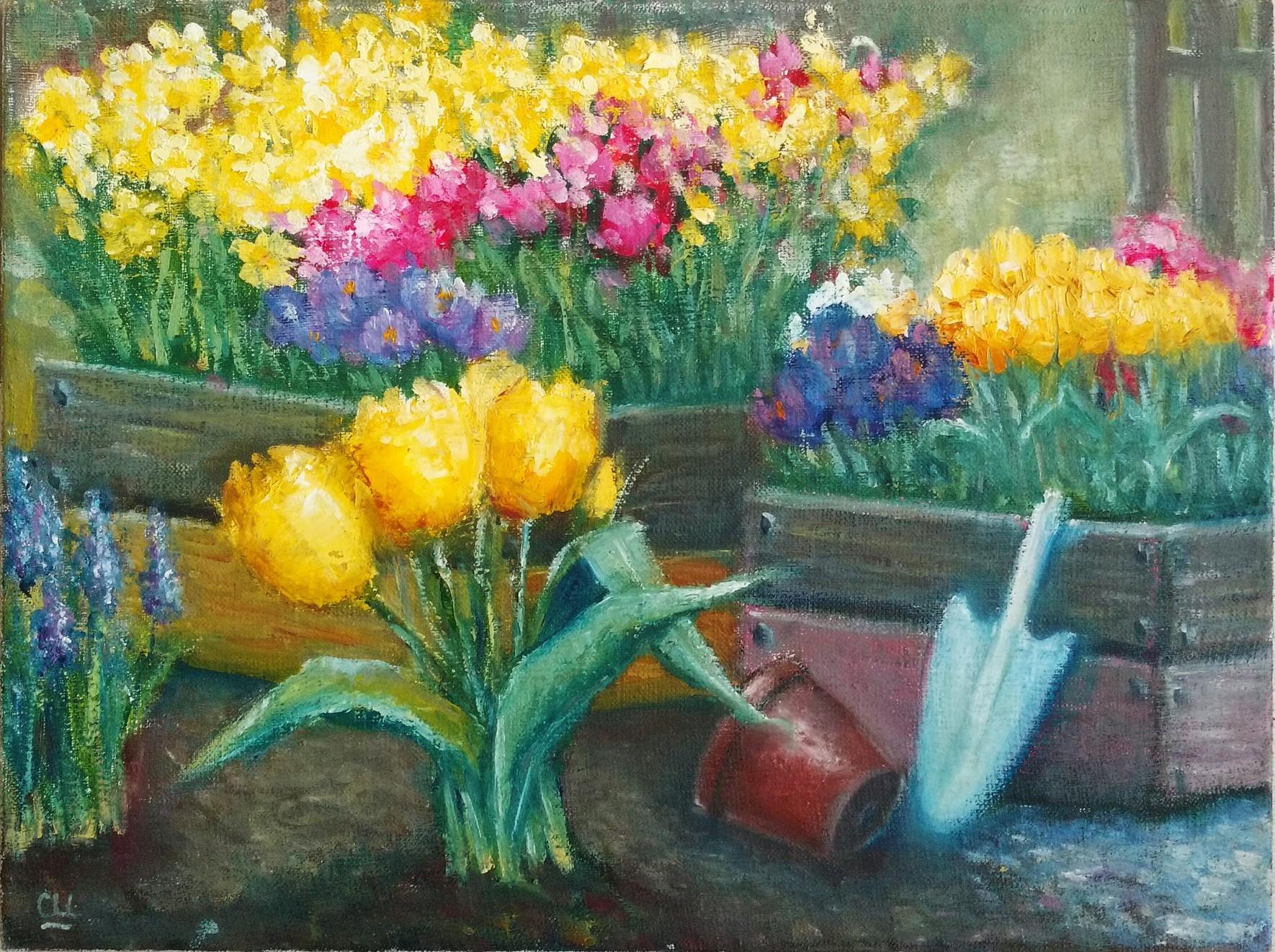 Цветы весны, 30х40