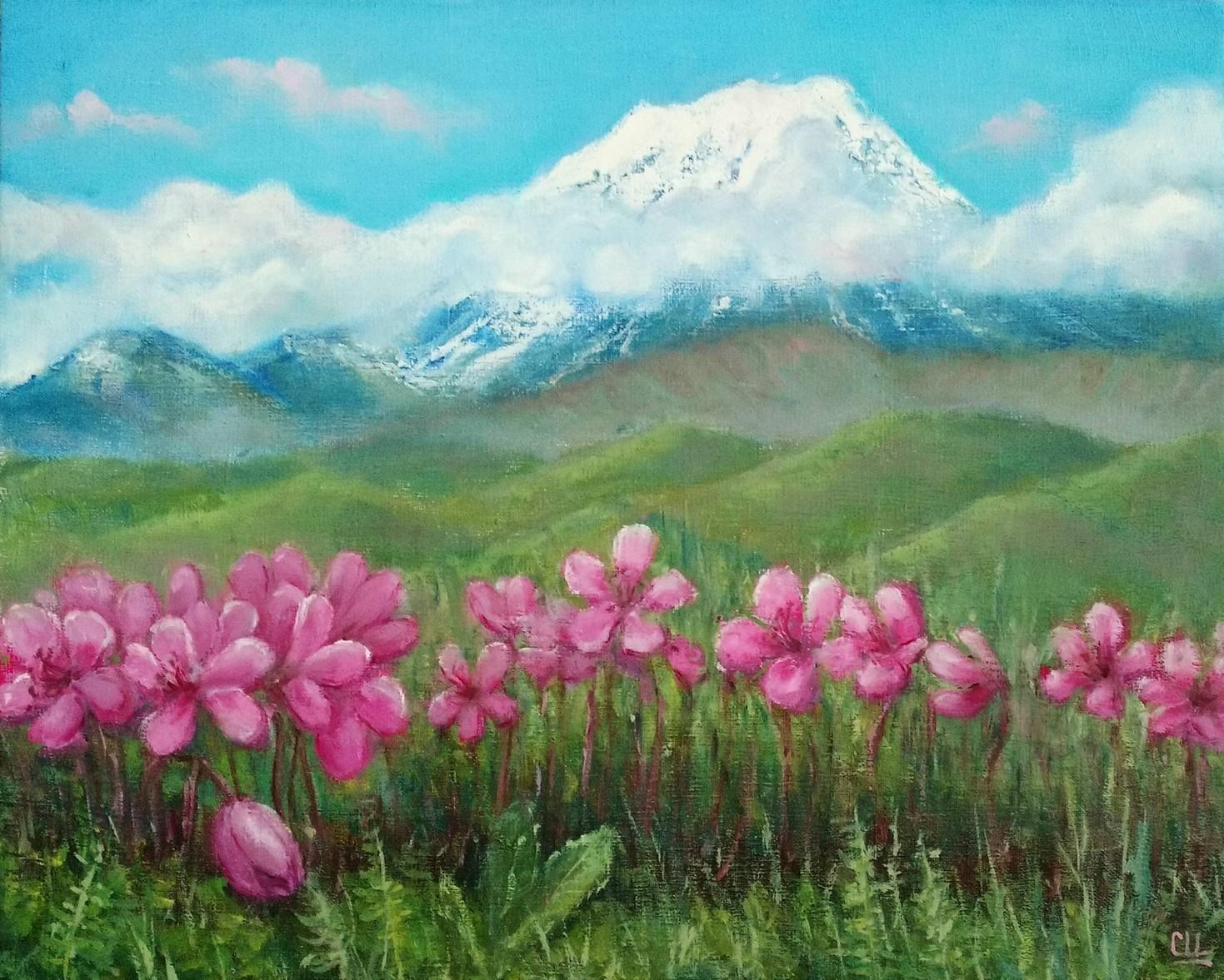 Весна на Камчатке, 40Х50