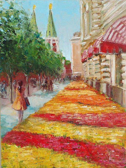 Цветы Москвы, 40х30