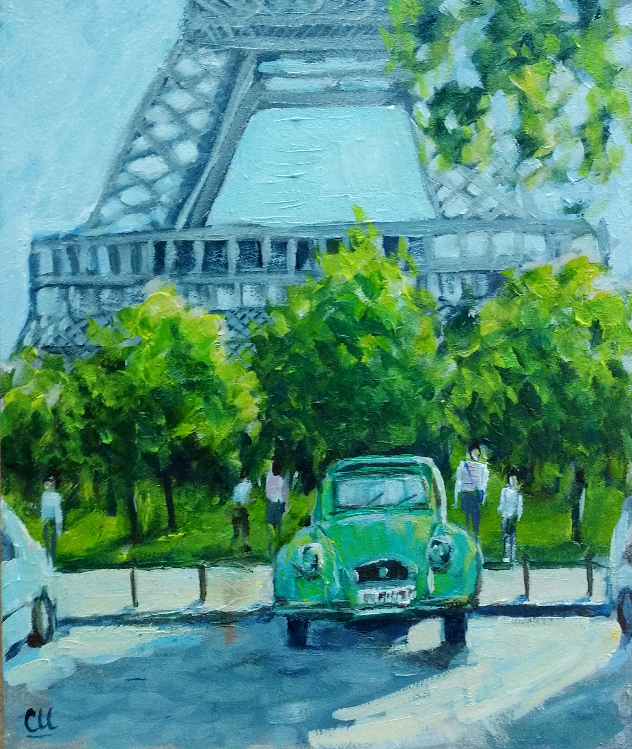 Ретро Париж, 30х24