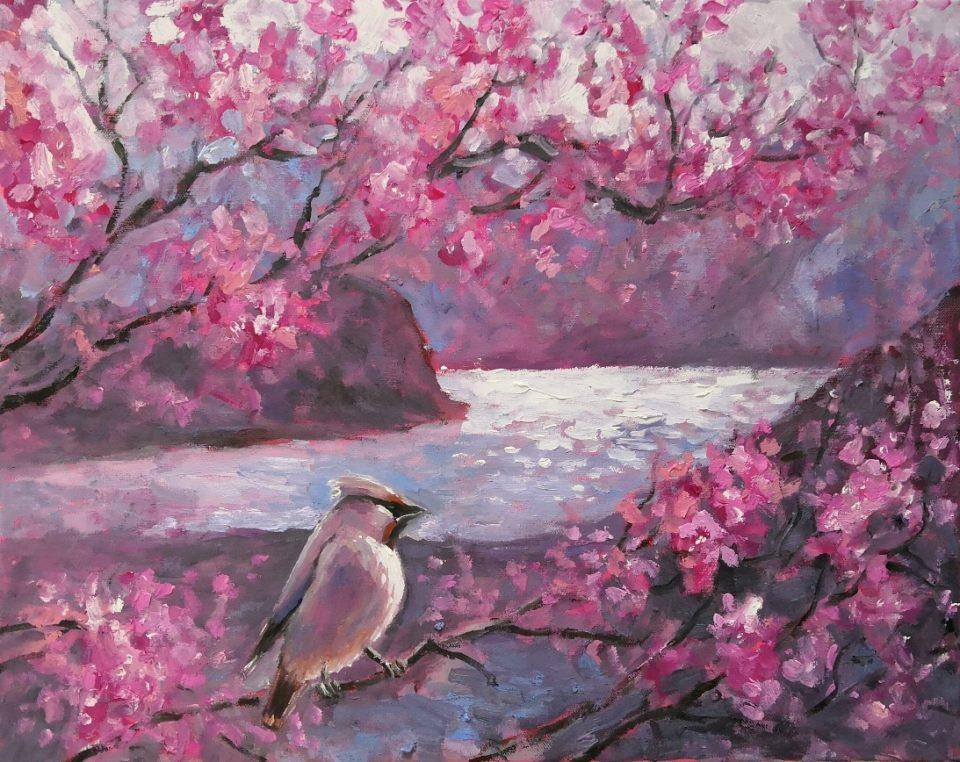 Картина маслом Весенний гость
