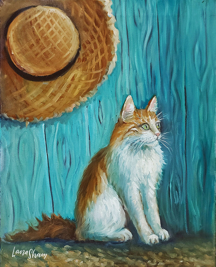 картина маслом Кот Ван Гога