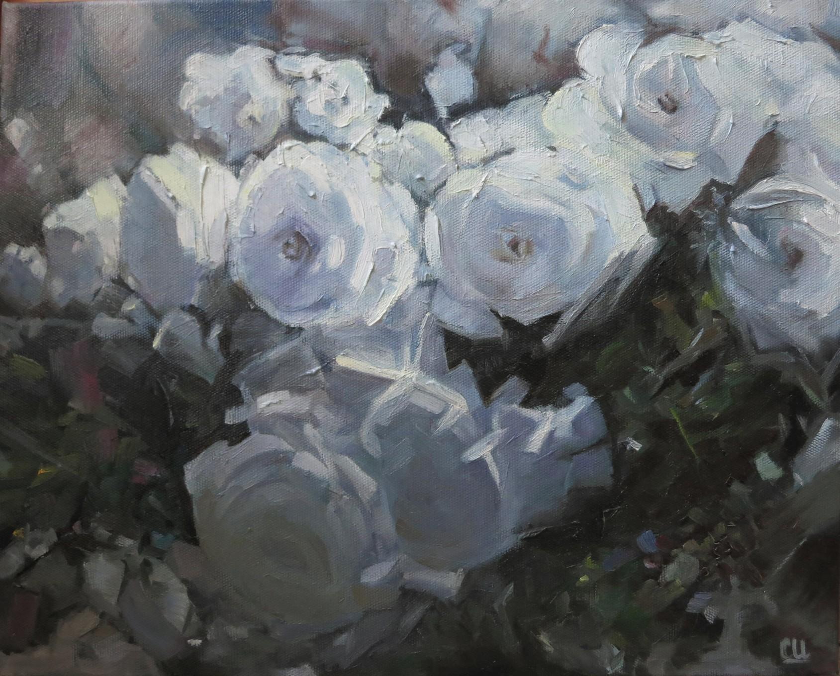 Белые розы (триптих), 50×40