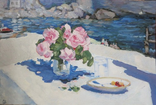 Розы. Крым (по мотиву Коровина)