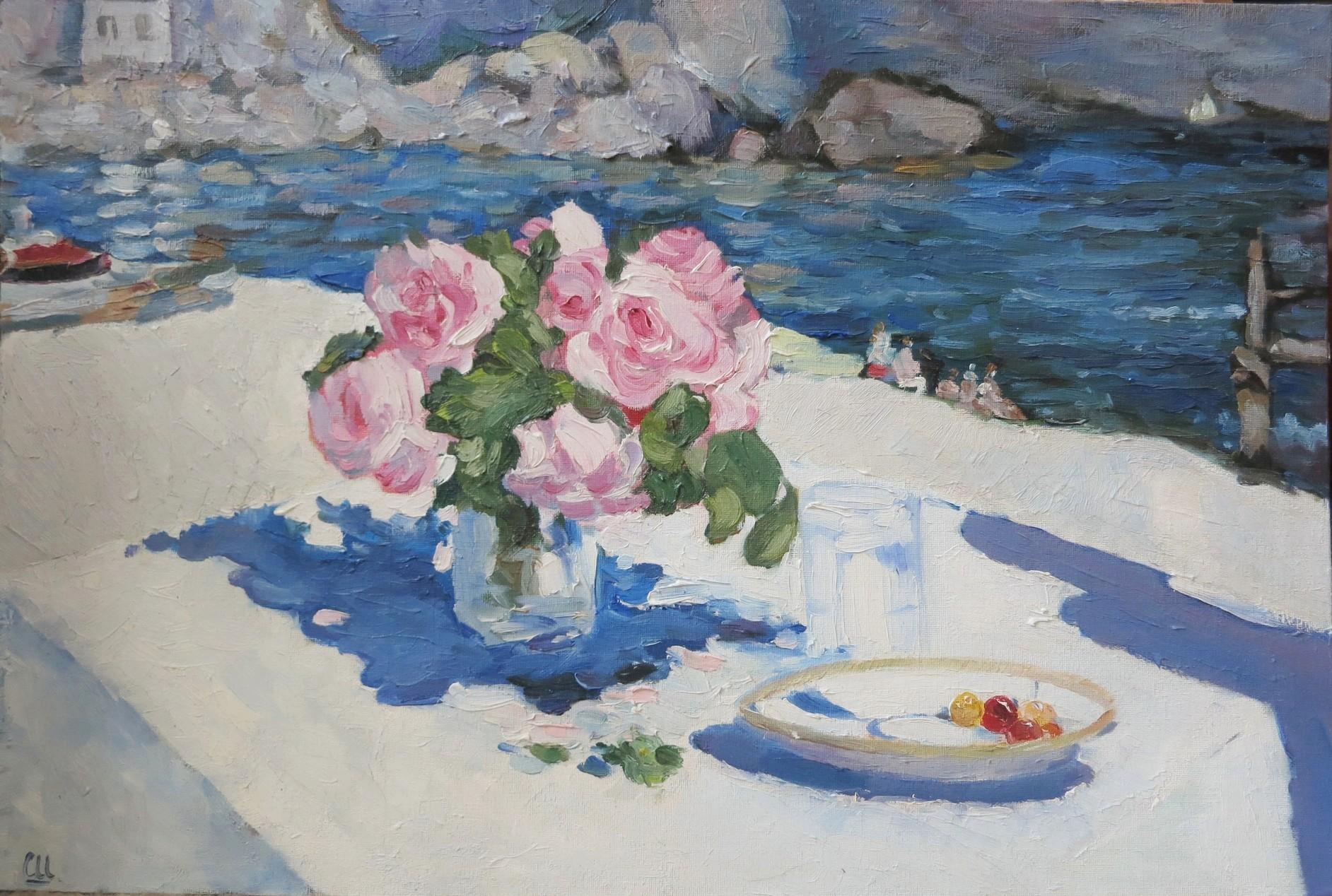 Розы. Крым, 60×40
