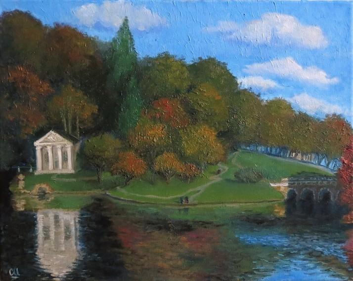 Осень в парке, 50×40
