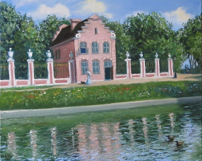 Голландский домик, 50х40