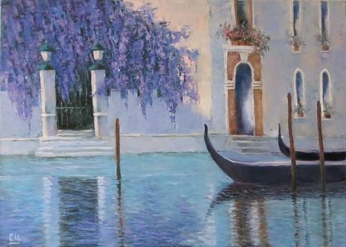 В Венеции глициния цветет, 70×50