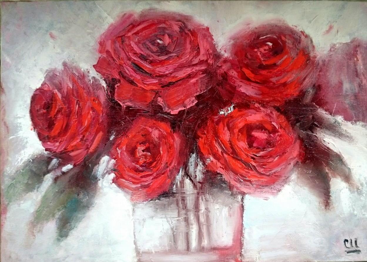 Голландские розы, 35×25