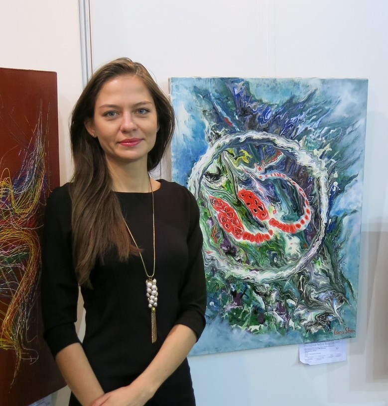 Моя абстракция на выставке