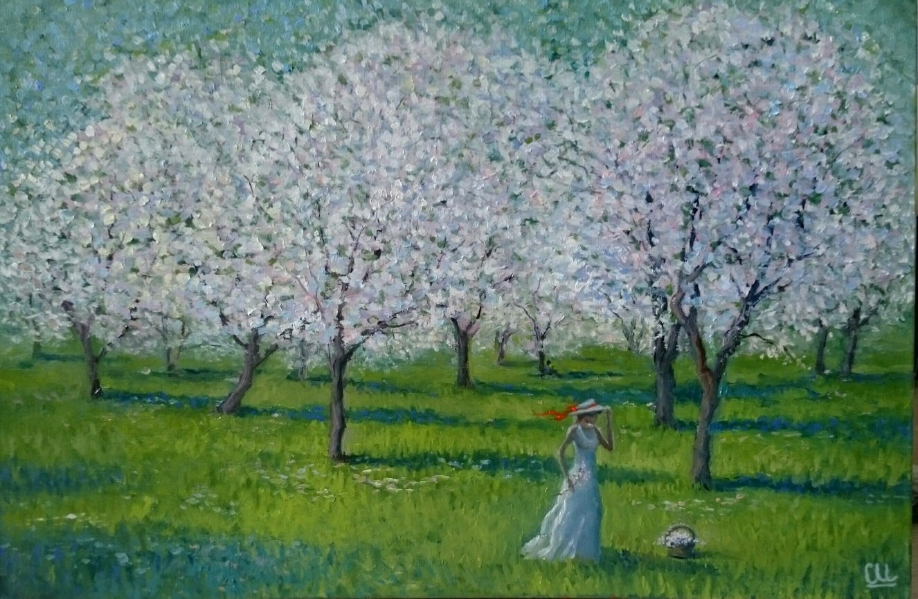 Весна пришла, 60×40