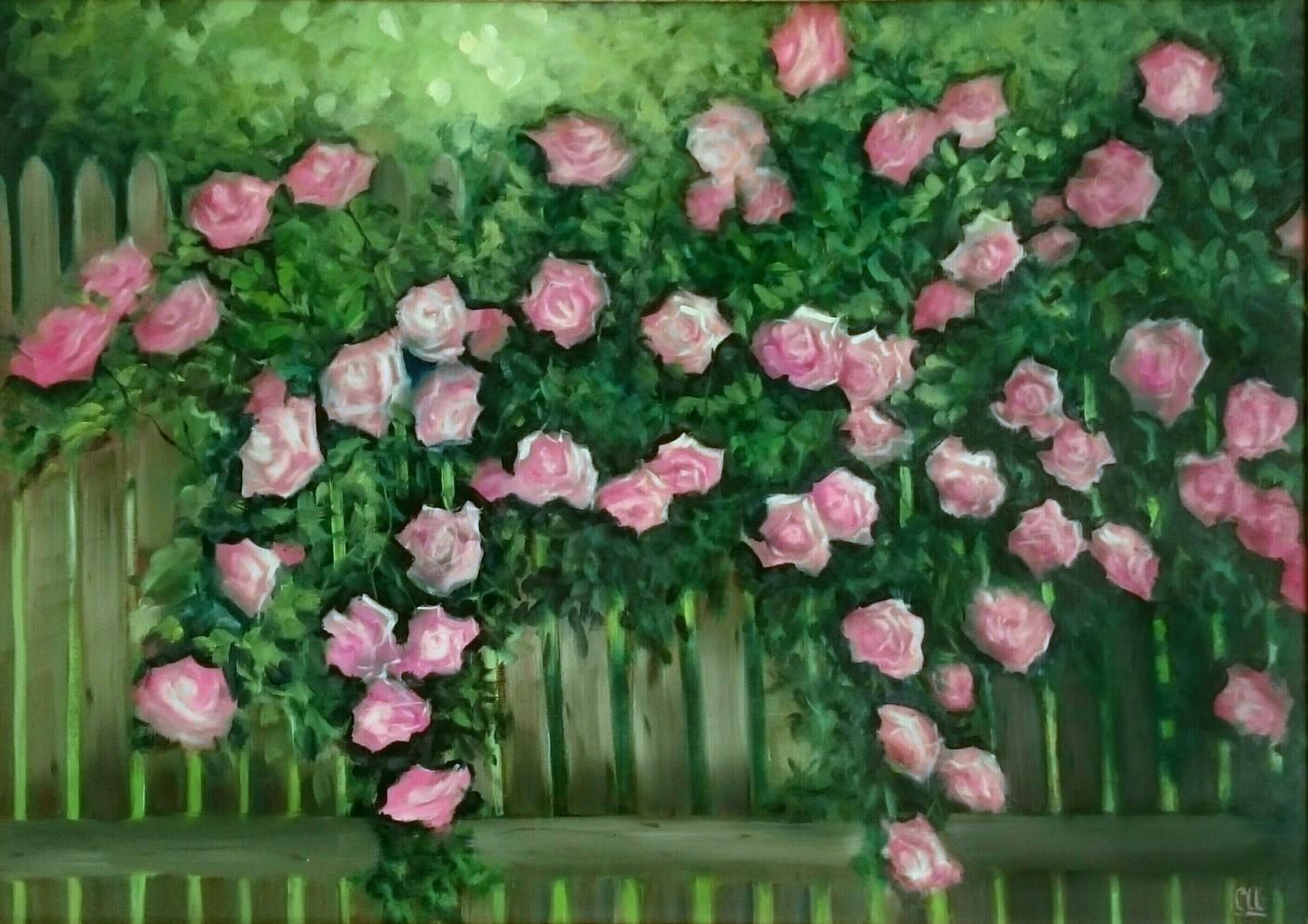 Розовый сад, 70×50
