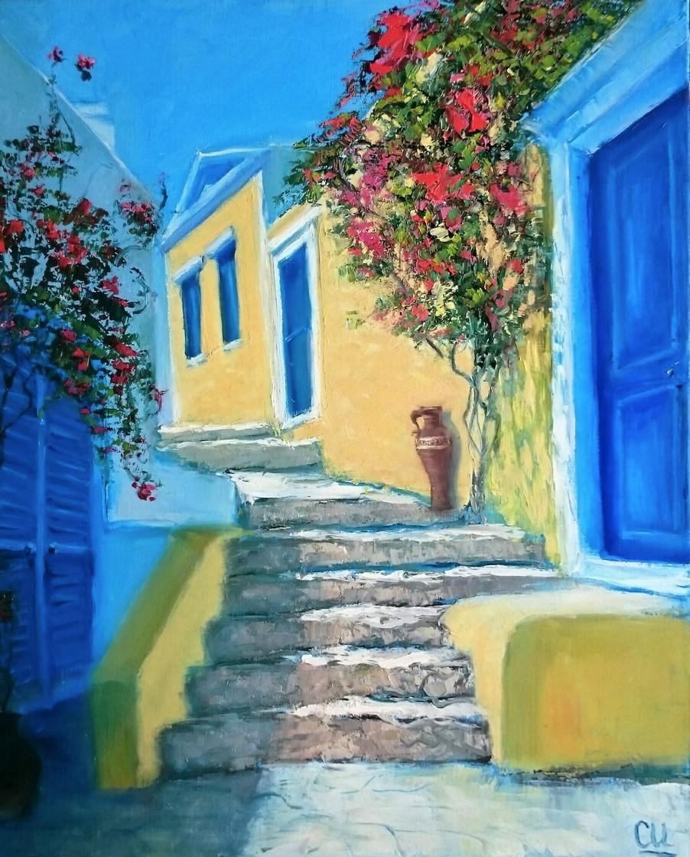 Греции уютный уголок, 50×40