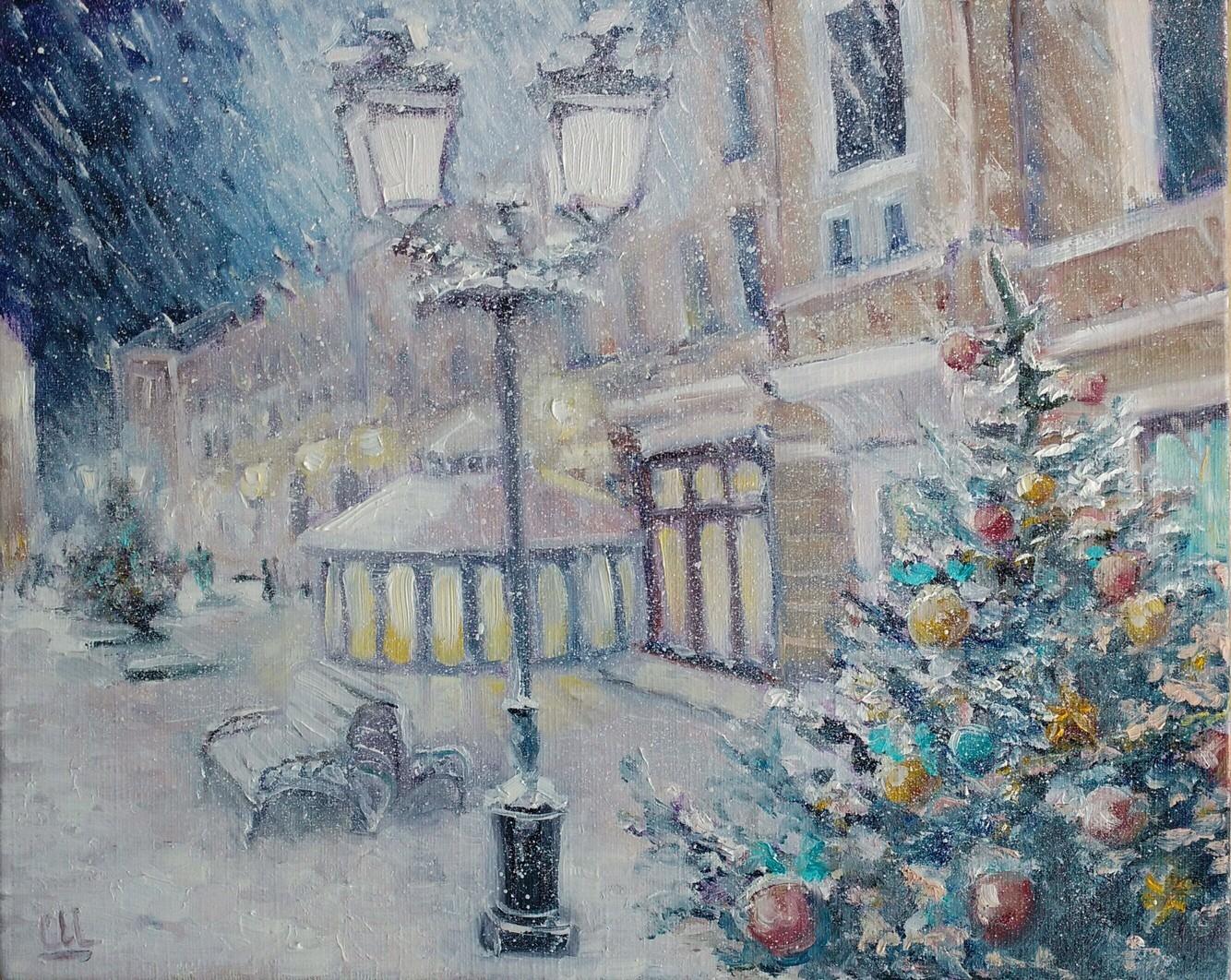 Новогодняя Москва, 30х24