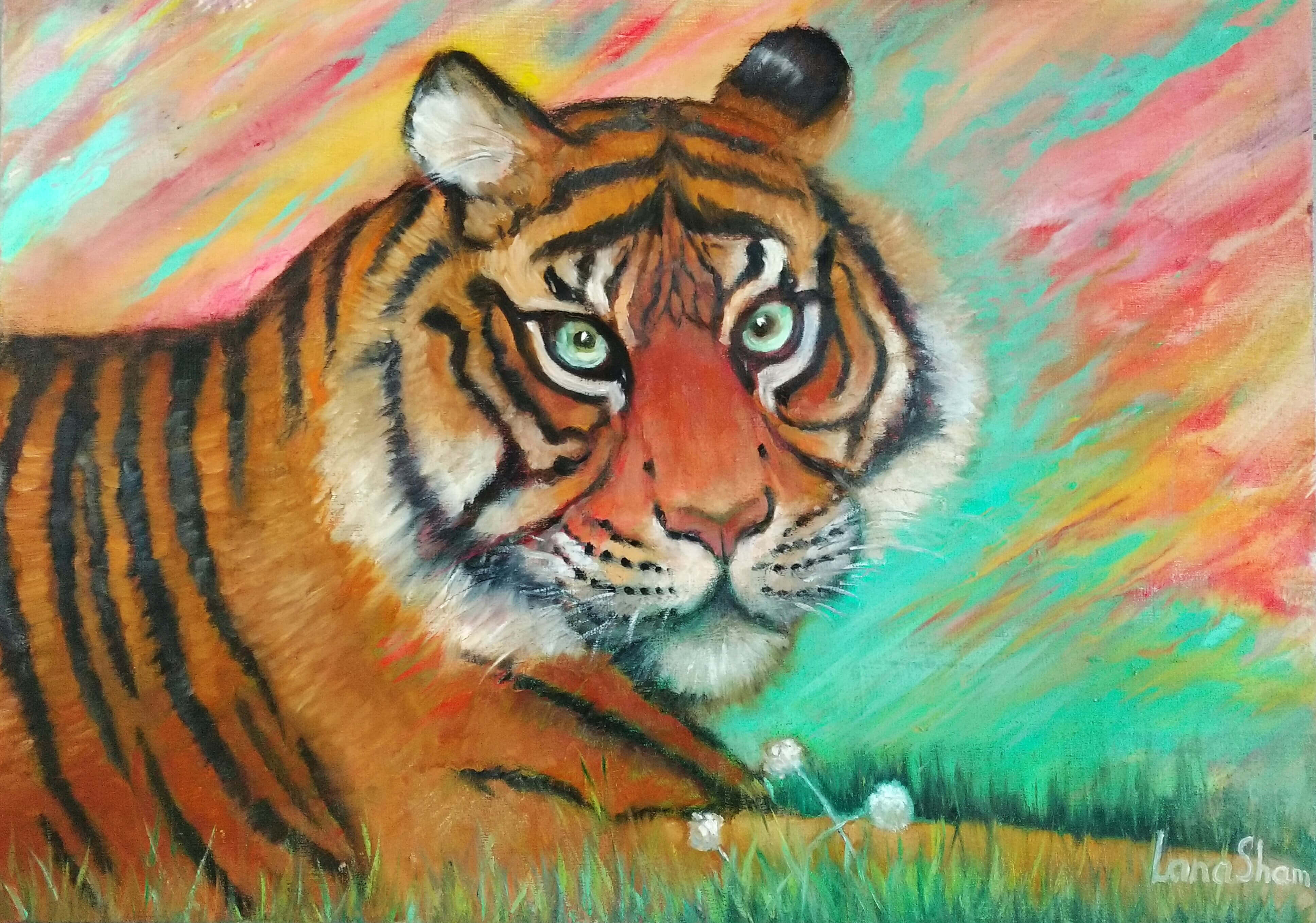 картина маслом Туранский тигр