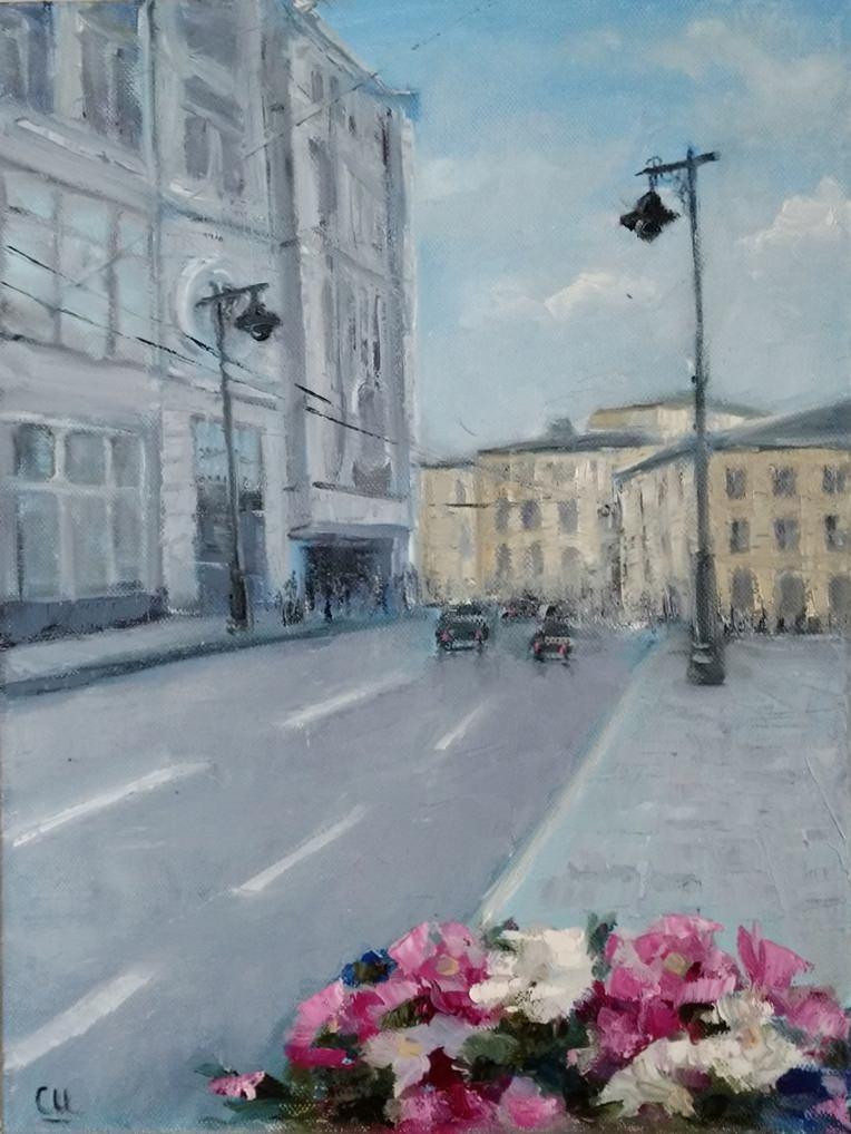 Картина Маслом Утром спит Москва