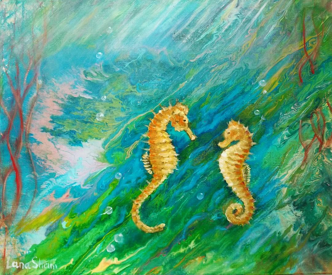 Картина маслом Подводный мир
