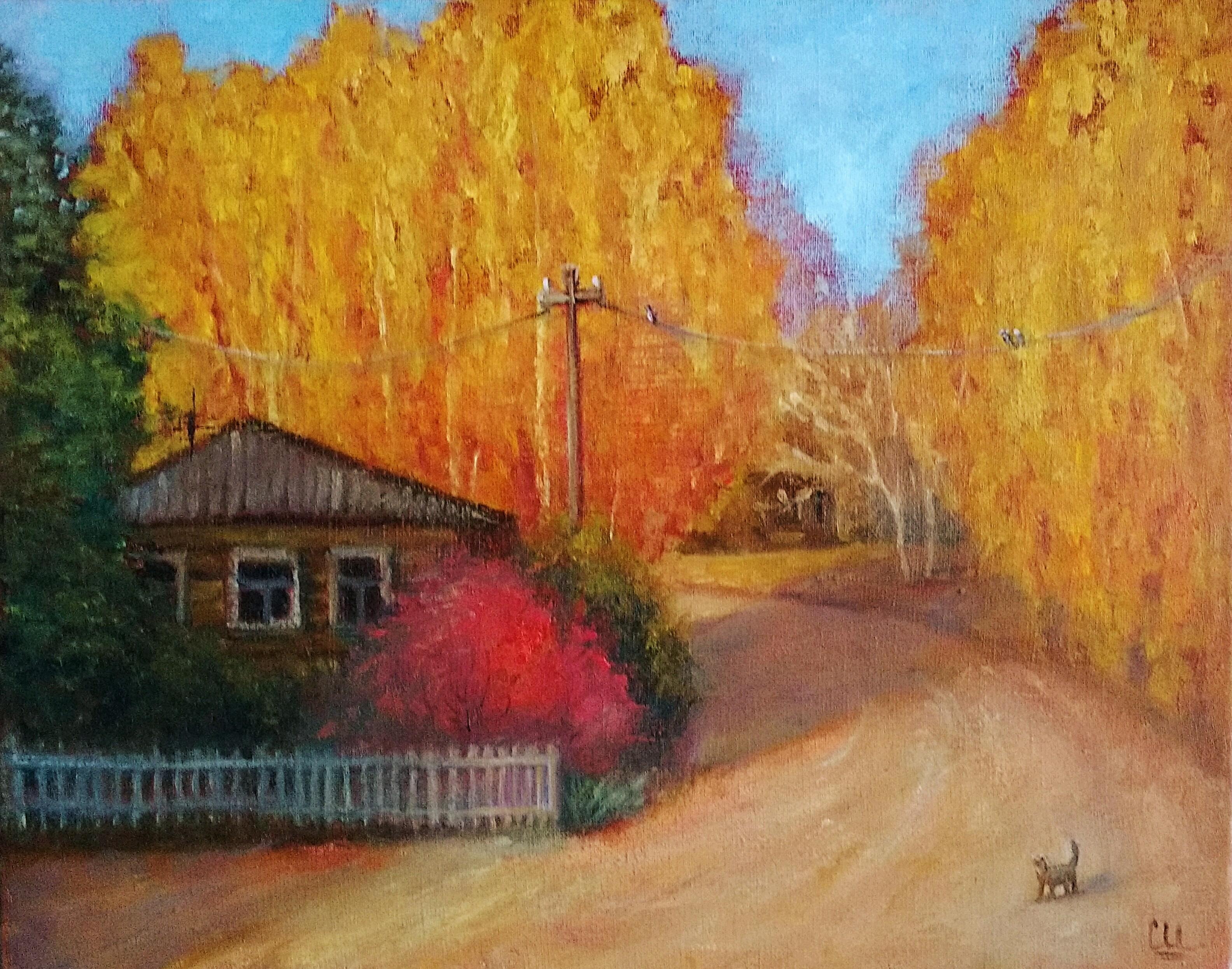 Картина маслом Русская осень