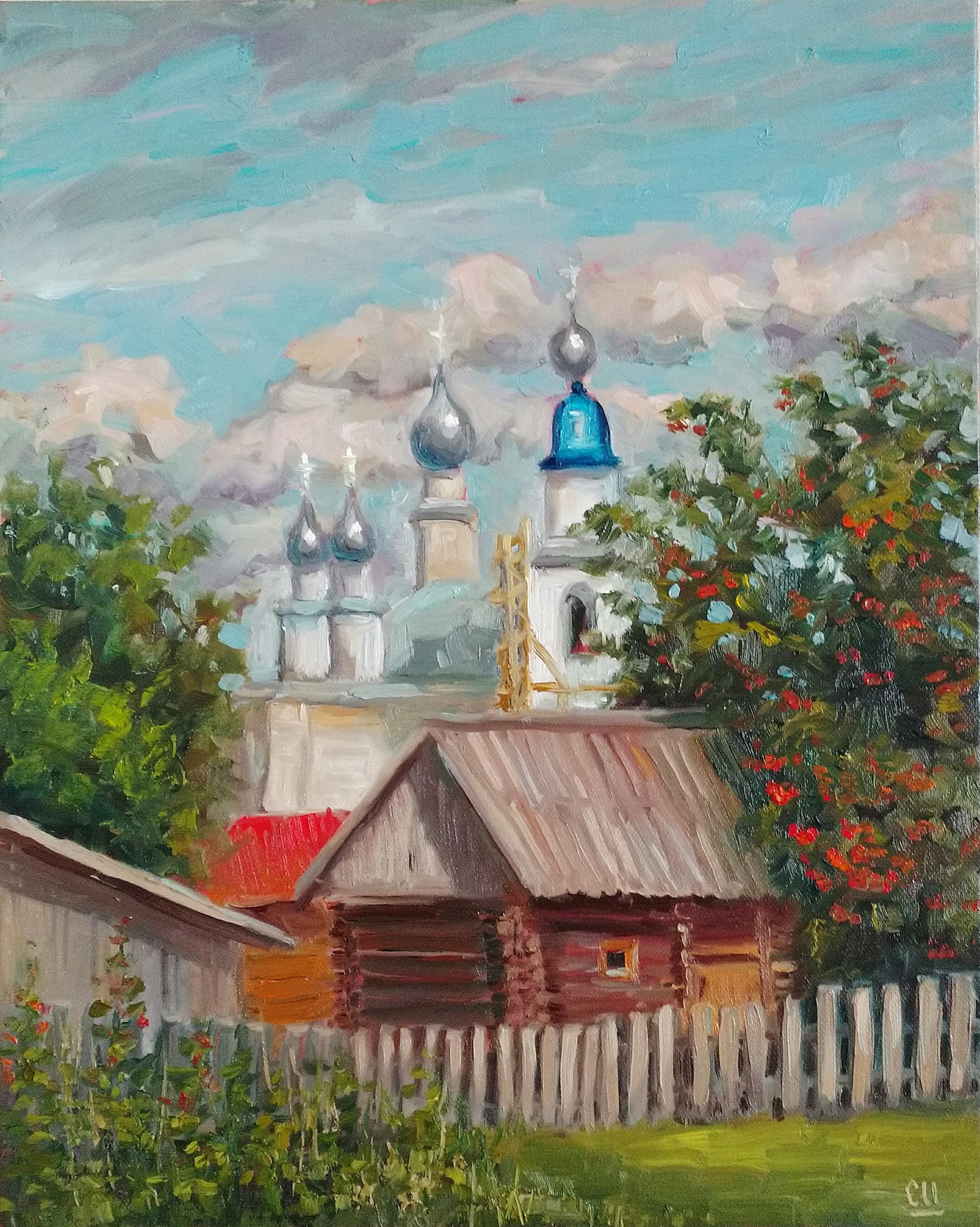Ярославский дворик, 50х40