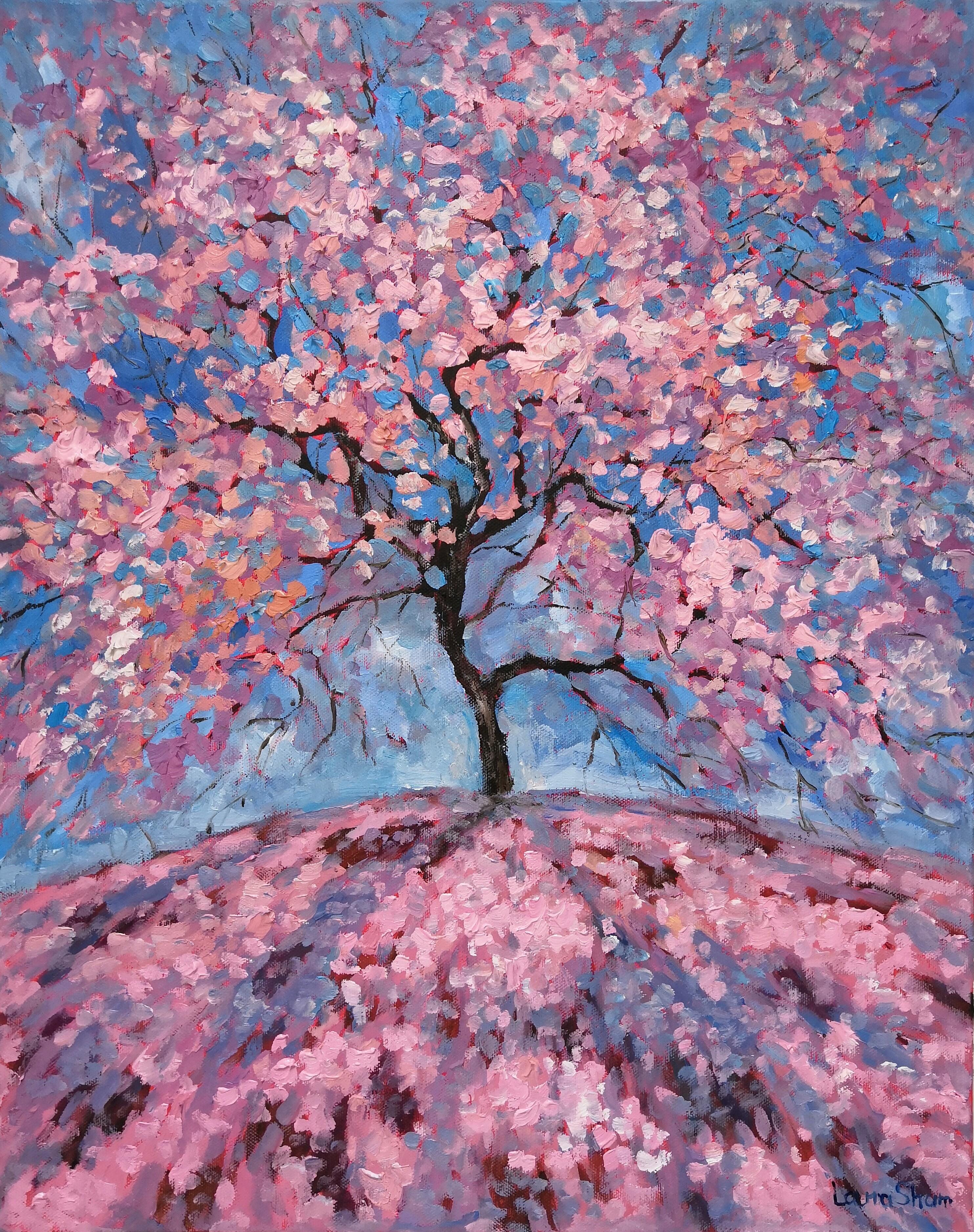 Картина маслом Весна-весна