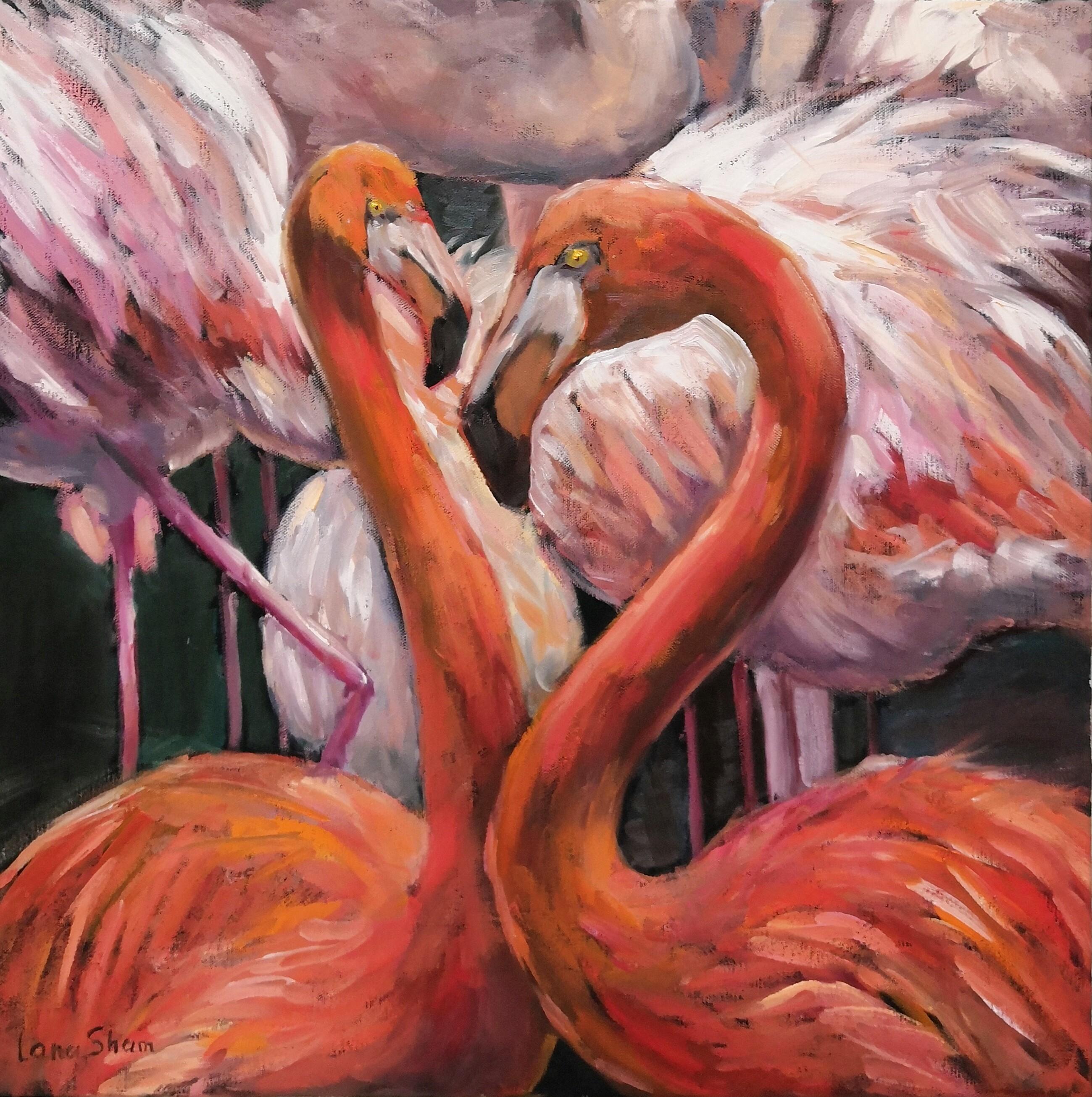 Фламинго, 50х50